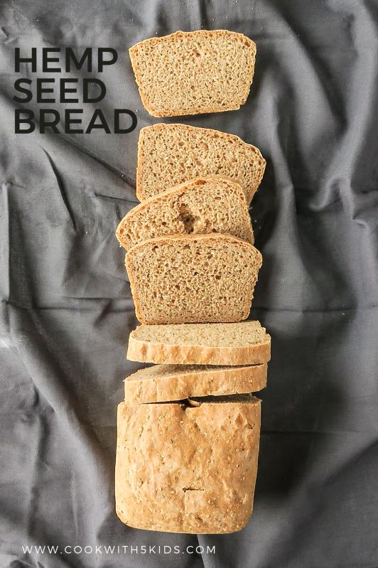 loaf of sliced hemp seed bread