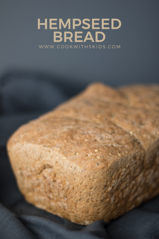 loaf of hemp seed bread
