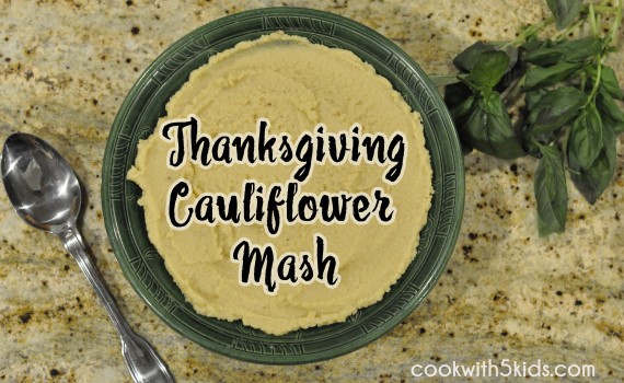 thanksgiving vegan cauliflower mash side dish