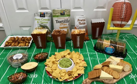 Easy Super Bowl party with Whole Foods Market. Full story at www.cookwith5kids.com