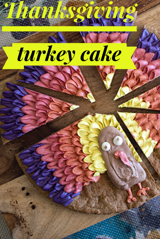 Thanksgiving Turkey Cake with Color Kitchen Foods