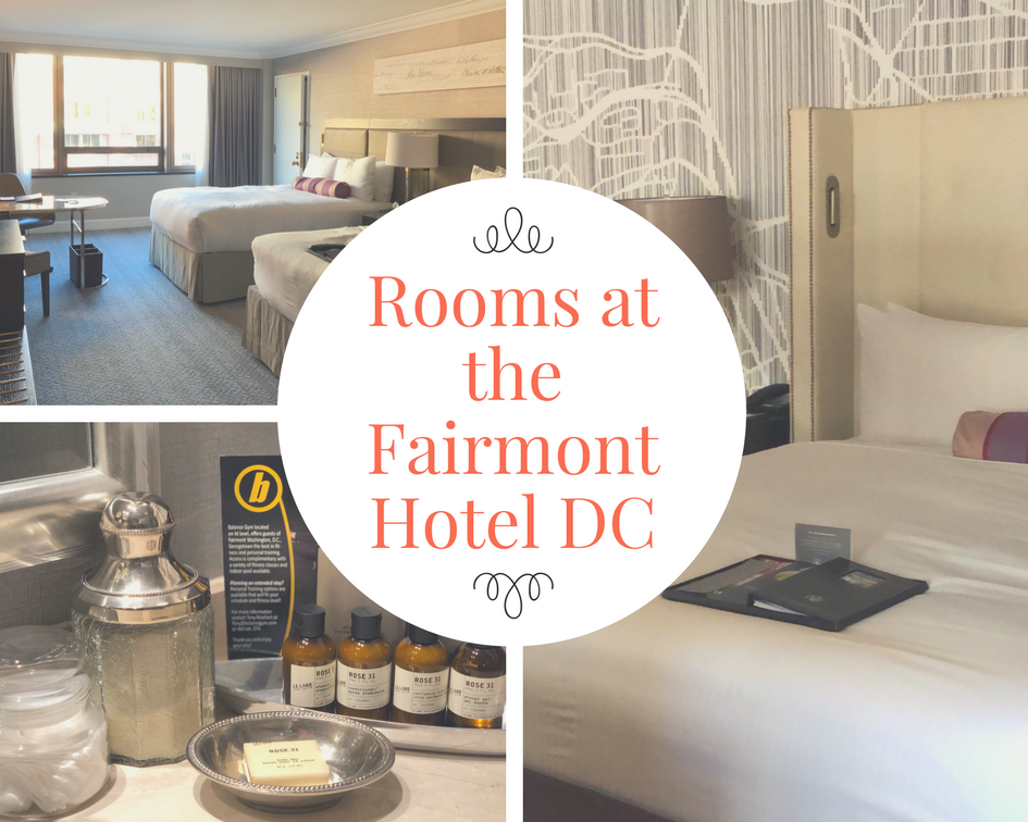 Rooms are so spacious at the Fairmont Hotel DC