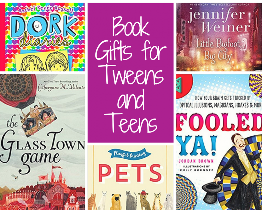 Teen Gift Guide with great book options for tweens and teens