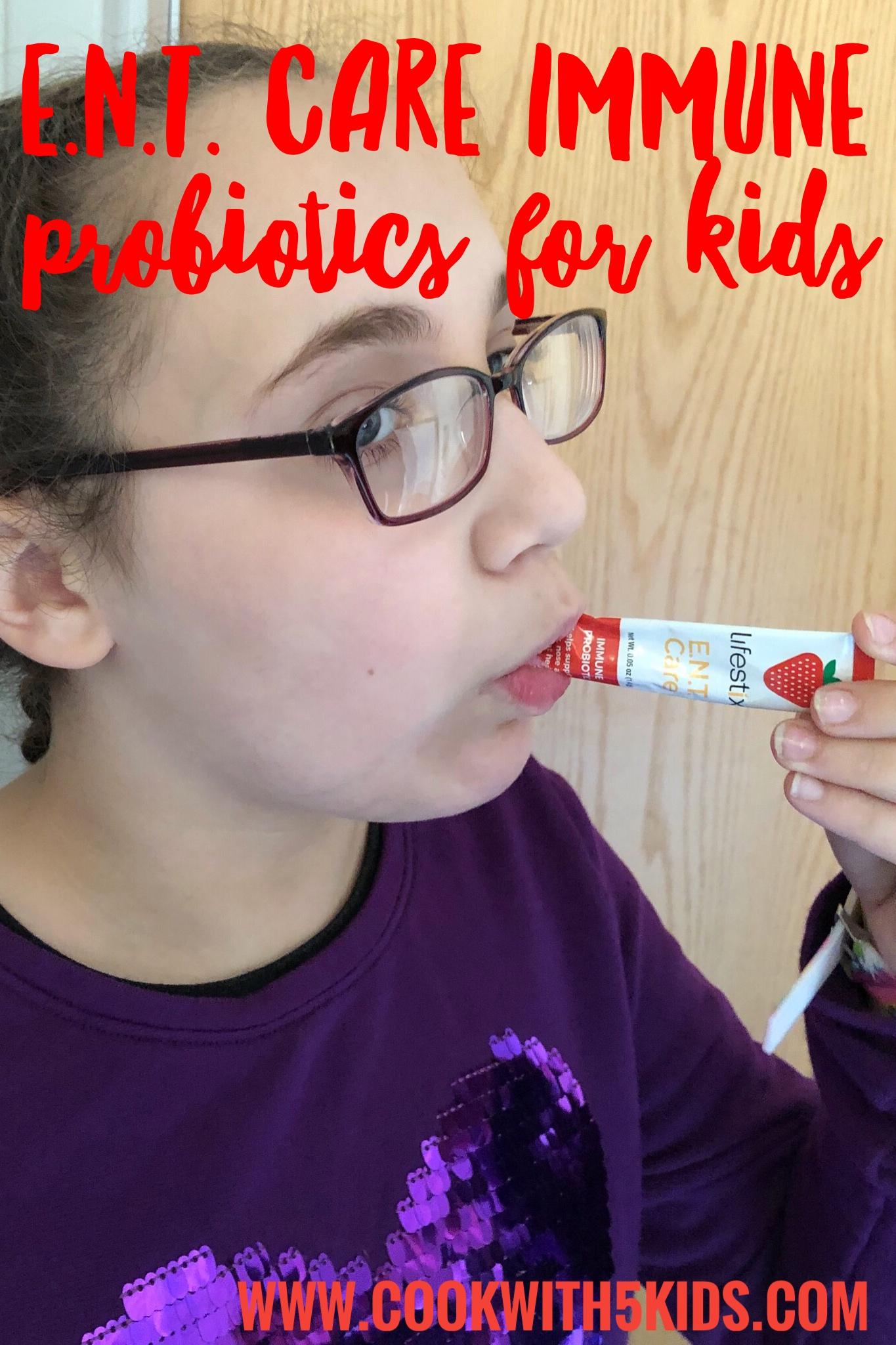 On the go Once a day, Strawberry flavored probiotic supplements that my kids love