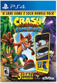 Crash Bandicoot Game and Socks make a great gift for teens