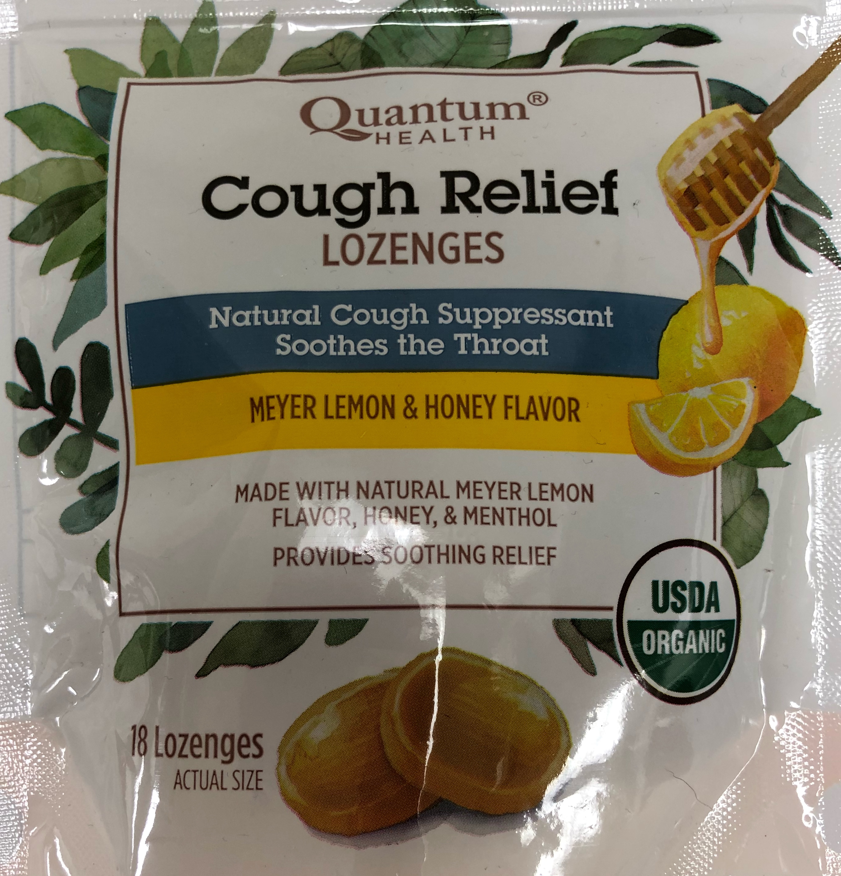 Quantum Health is the only organic certified cough drop on the market