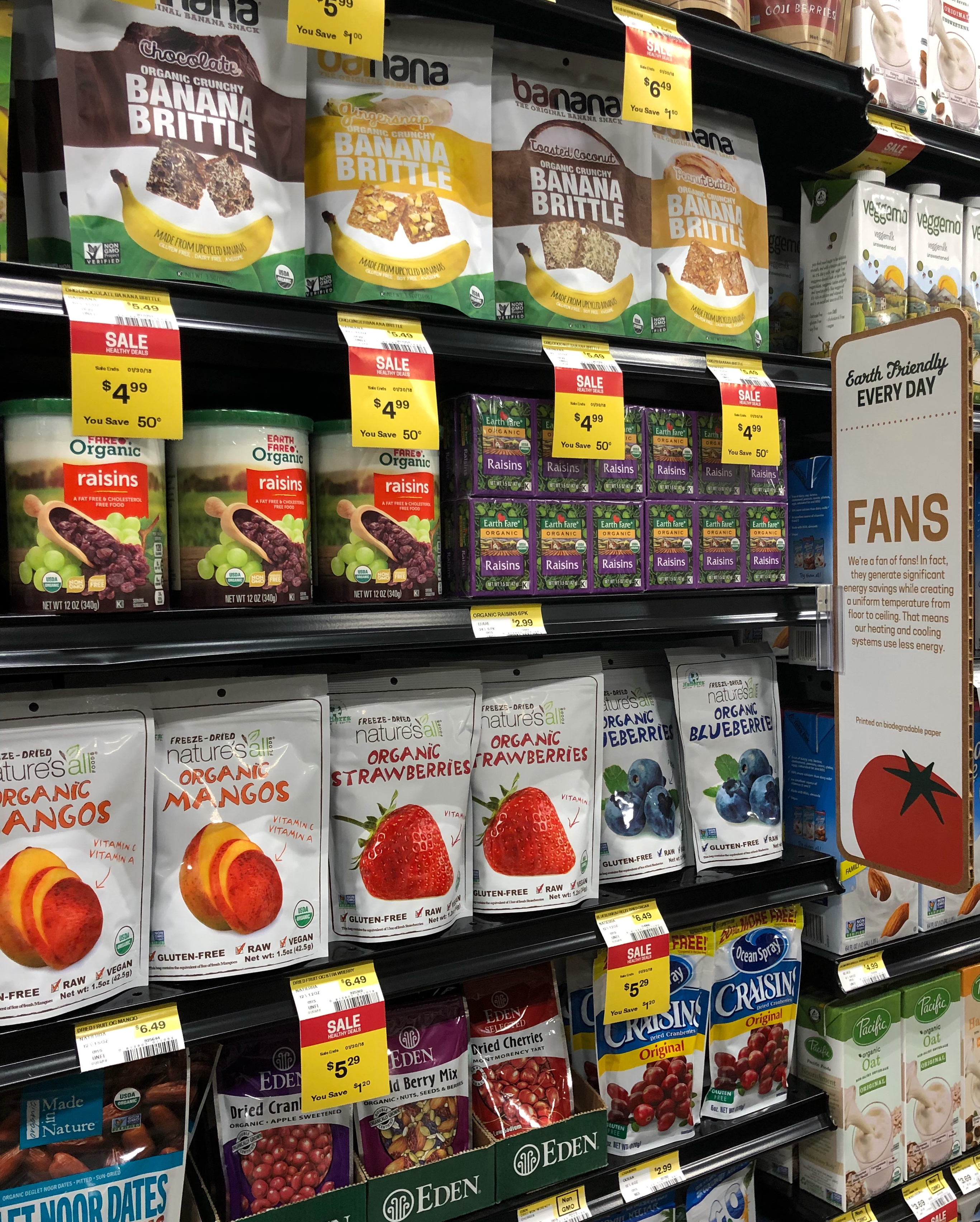 healthy grocery options at Earth Fare Fairfax