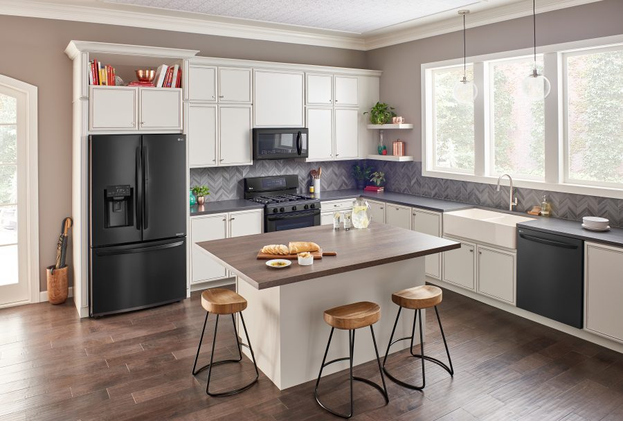 LG high tech kitchen appliances at Best Buy