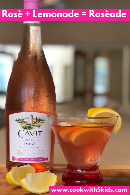Roséade is a refreshing drink. Combine Rosé and Lemonade and you will feel refreshed.