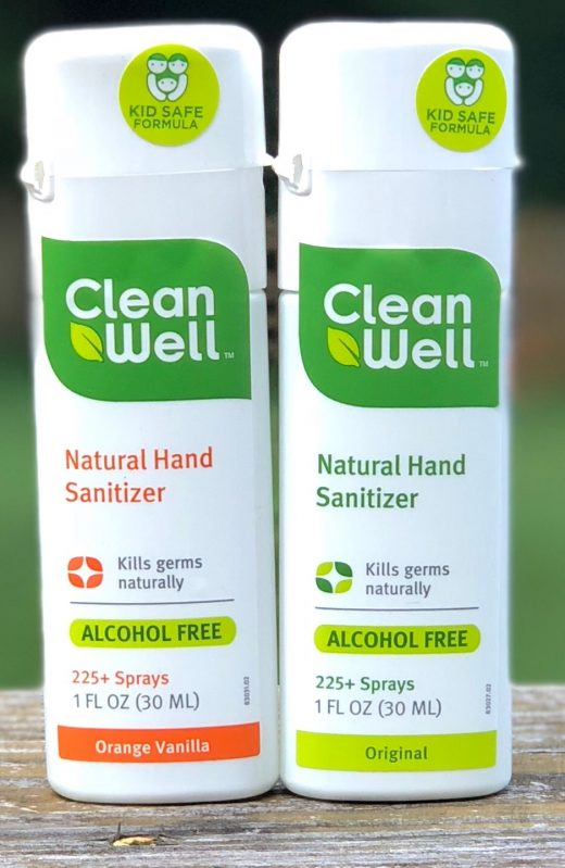 Clean Well antibacterial spray, keep germs away, keep hands clean, perfect for lunch boxes