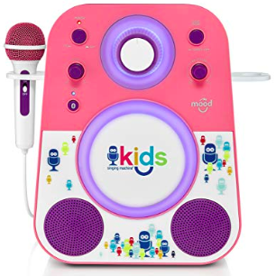 singing machine, karaoke at home for kids, bluetooth karaoke machine. fun summer indoor activity