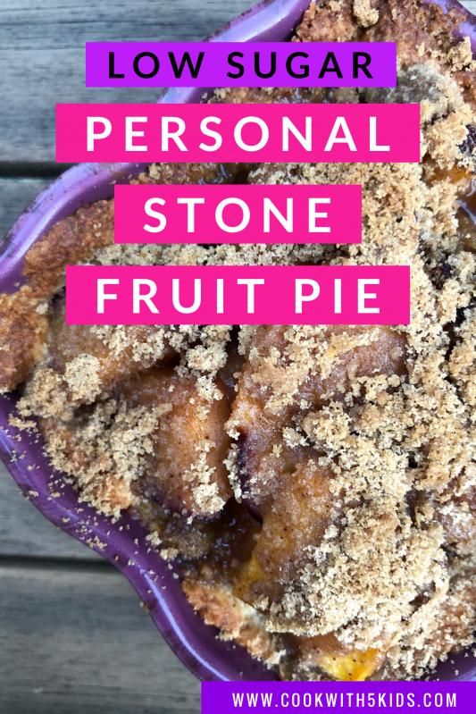 personal stone fruit low sugar pie