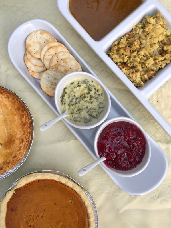 Thanksgiving Sides all prepared for you from Boston Market, easiest Thanksgiving food ever!