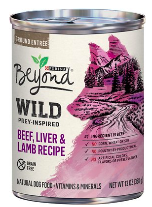 Purina Beyond Wild Prey-Inspired Beef, Liver & Lamb Recipe Canned Dog Food from Chewy.com