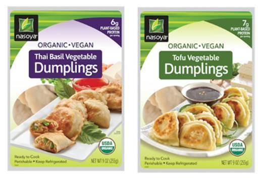 vegan organic tofu and vegetable dumpling by Nasoya