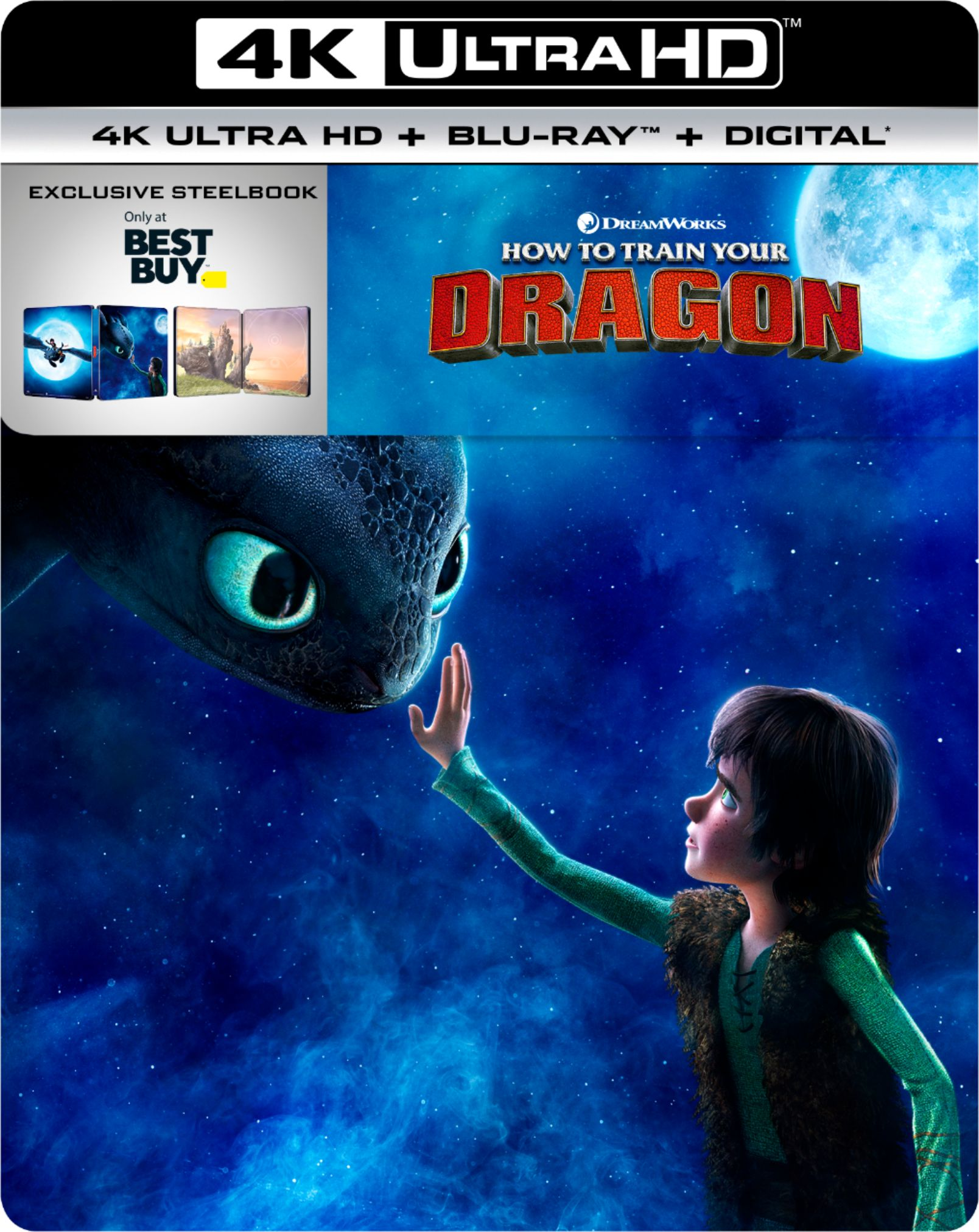 how to train your dragon the hidden world 4K blu ray steelbook