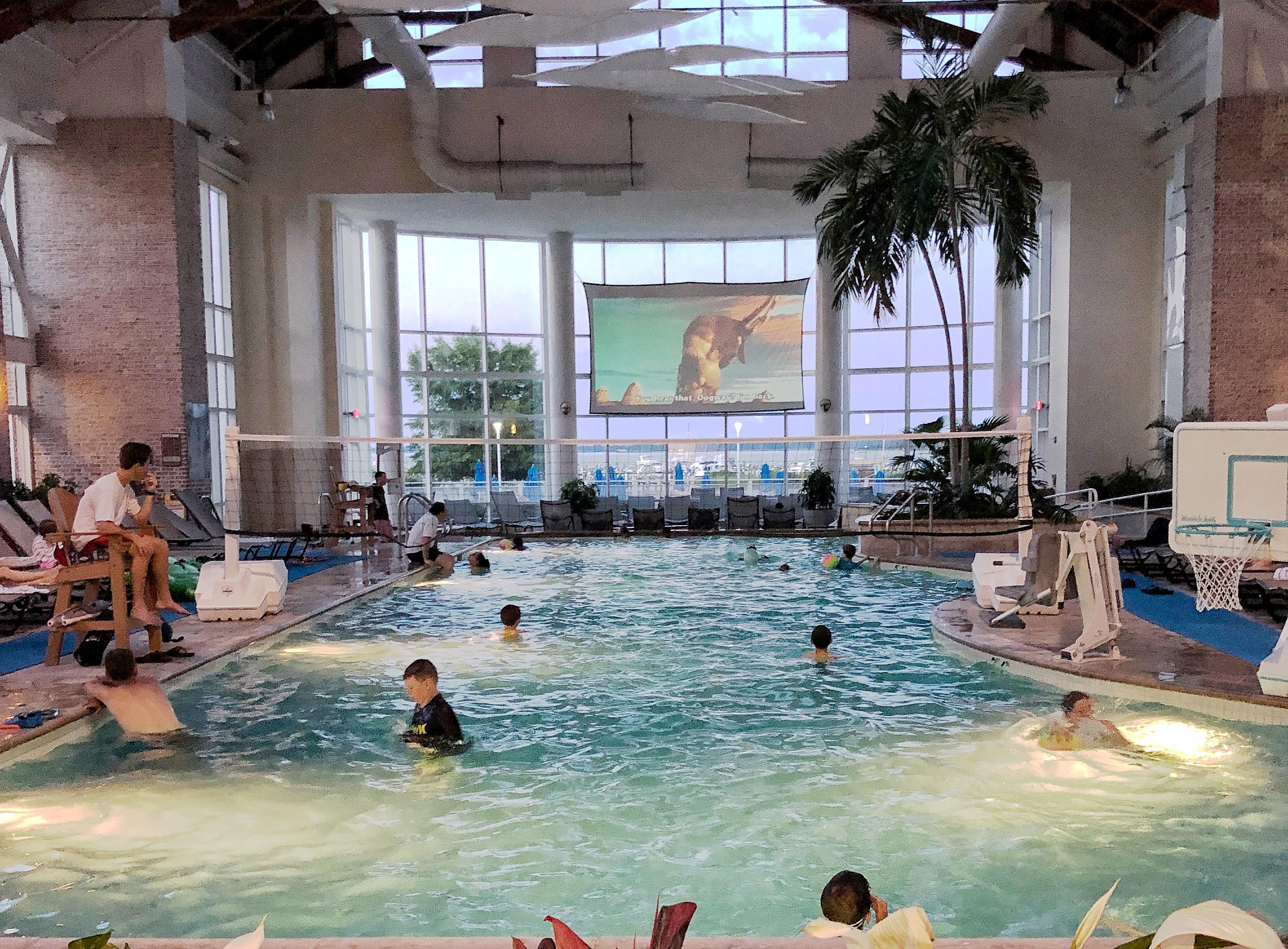 Dive-in movie in the pool at the Hyatt Chesapeake