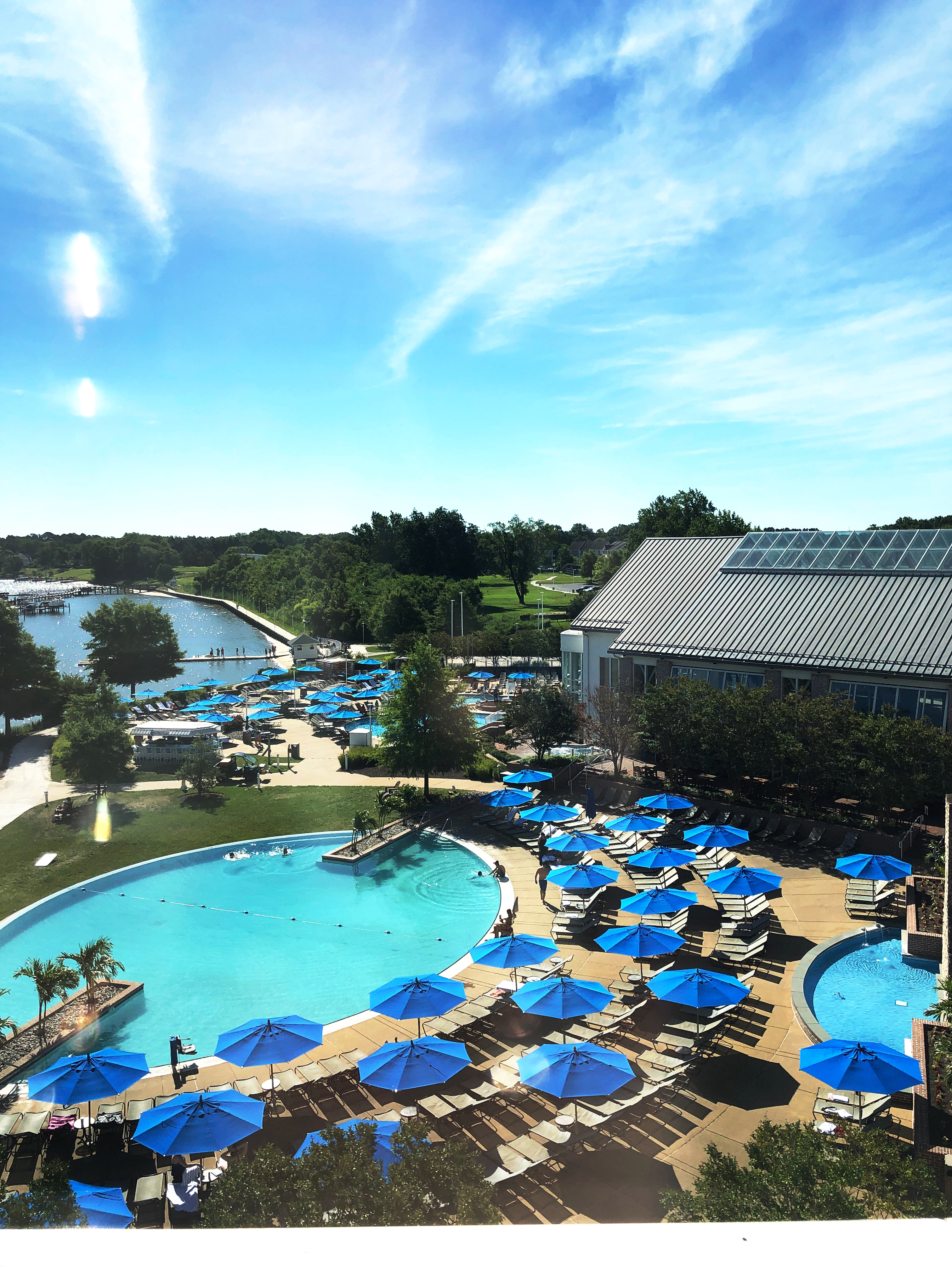 infinity pool at the hyatt chesapeake