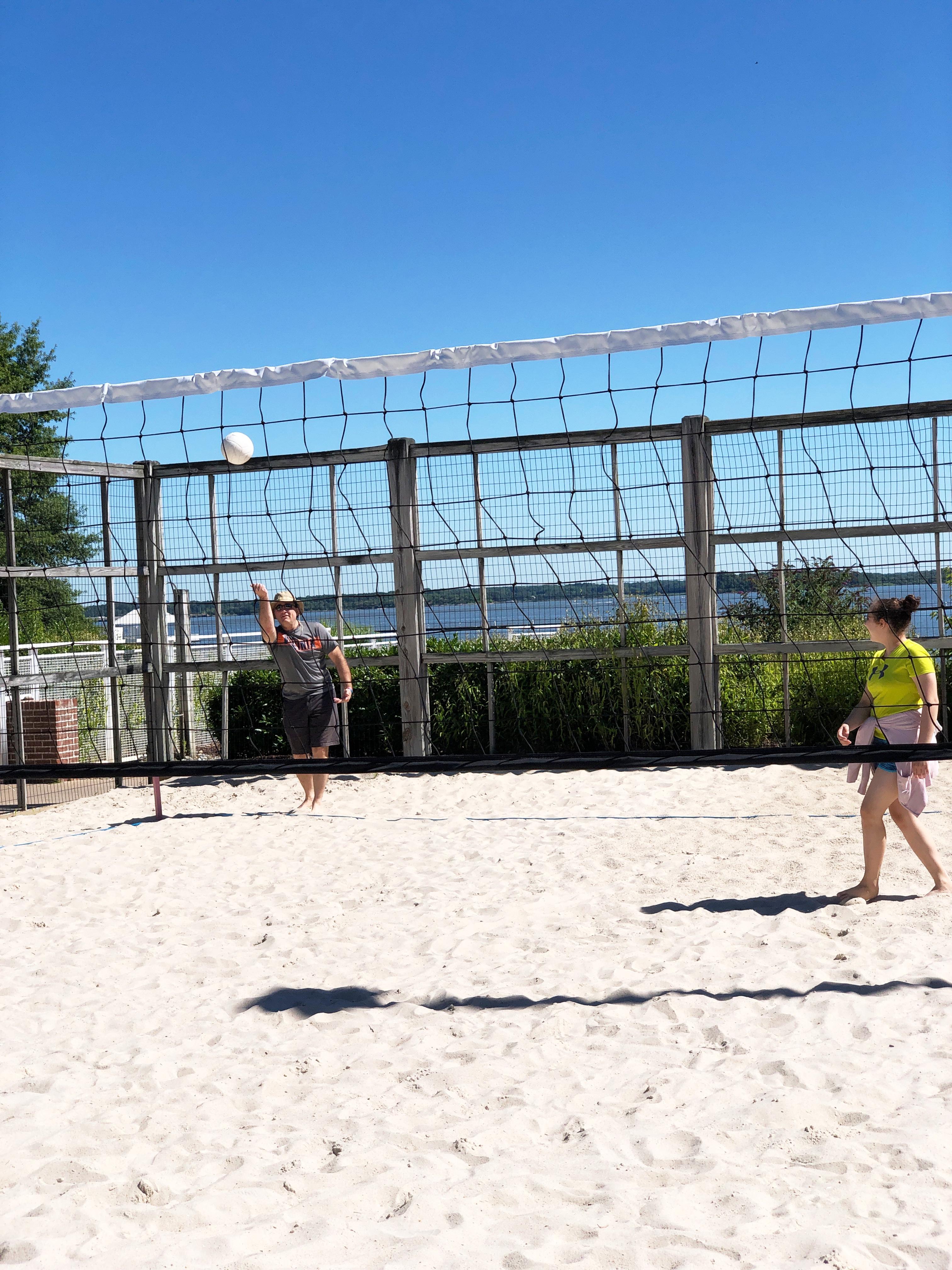 beach volleyball at the Hyatt Chesapeake