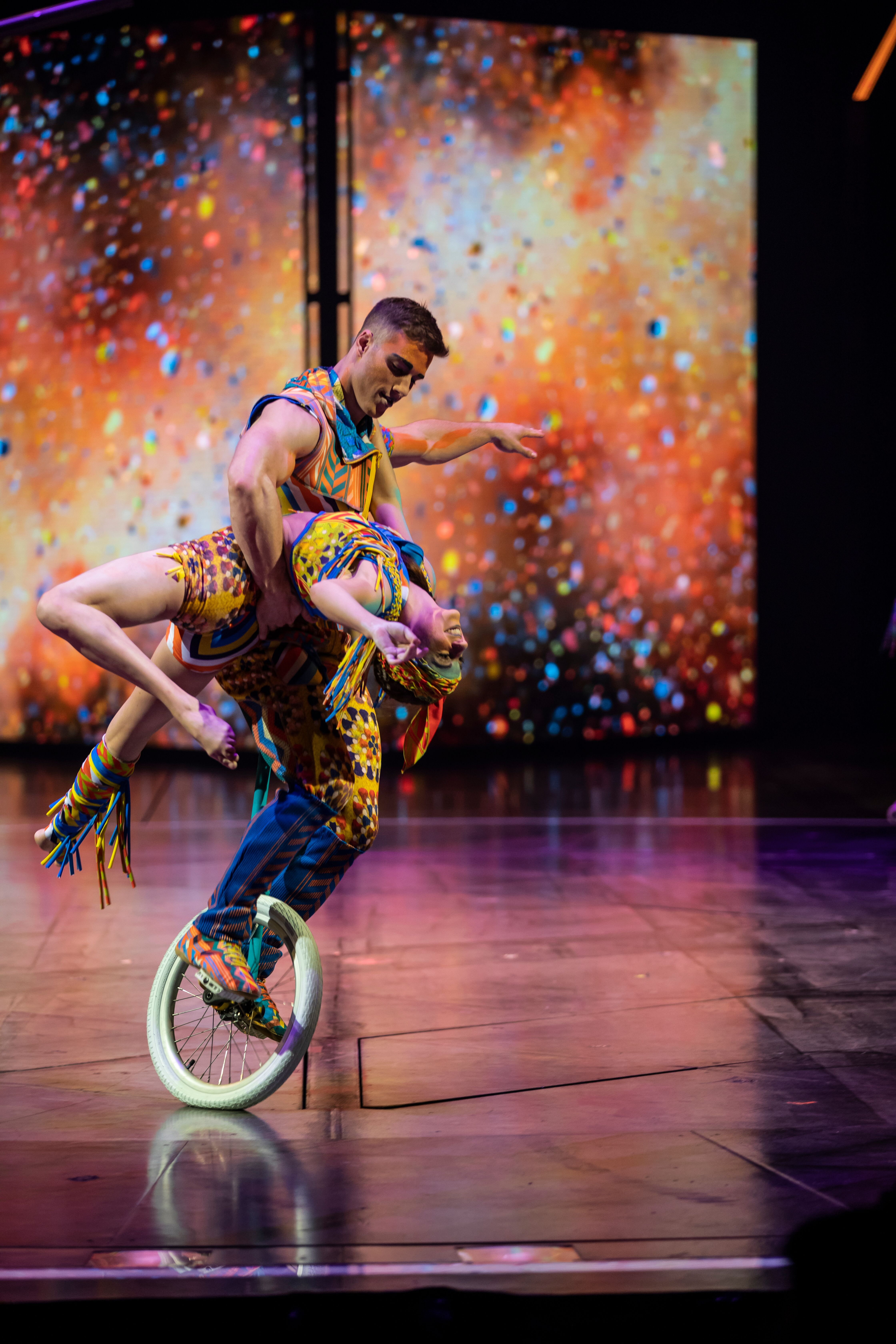Unicycle Act from Cirque du Soleil VOLTA tysons