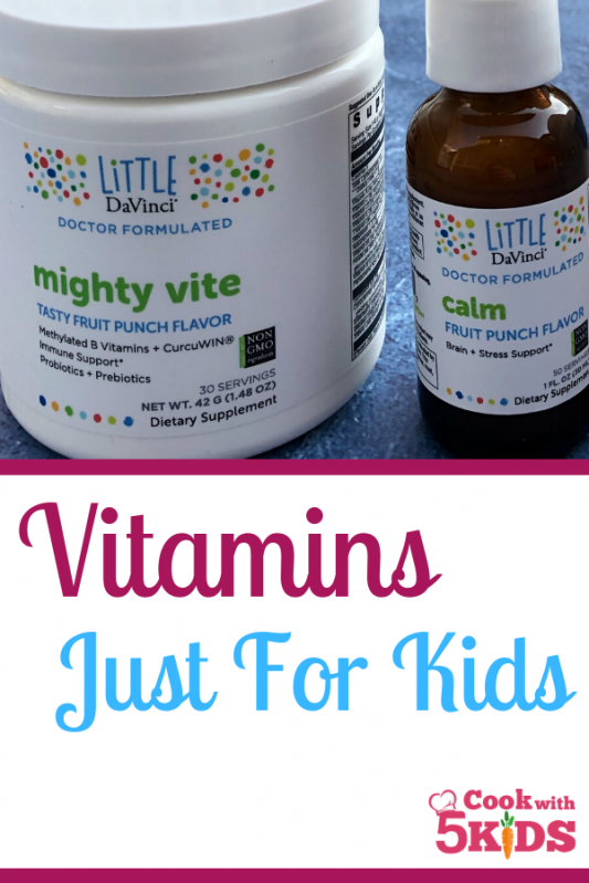 vitamins just for kids mighty vites by davinci labs