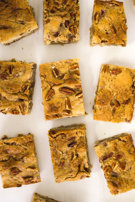cherry brown butter blondie bars