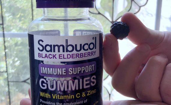 take one sambucol gummy per day to boost immune health