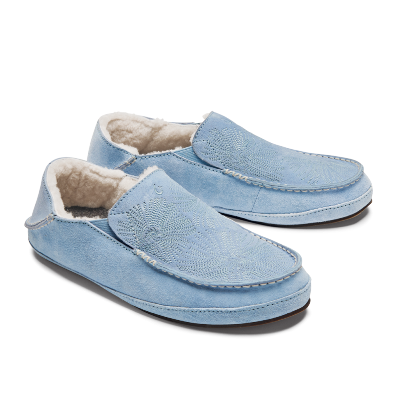womens light blue olukai slippers