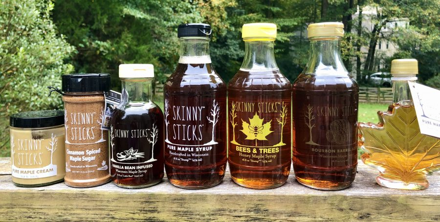 skinny sticks maple syrup products