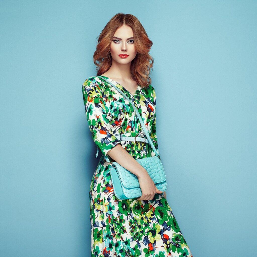natural fabrics in beautiful dress