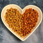 heart shaped bowl with love corn inside