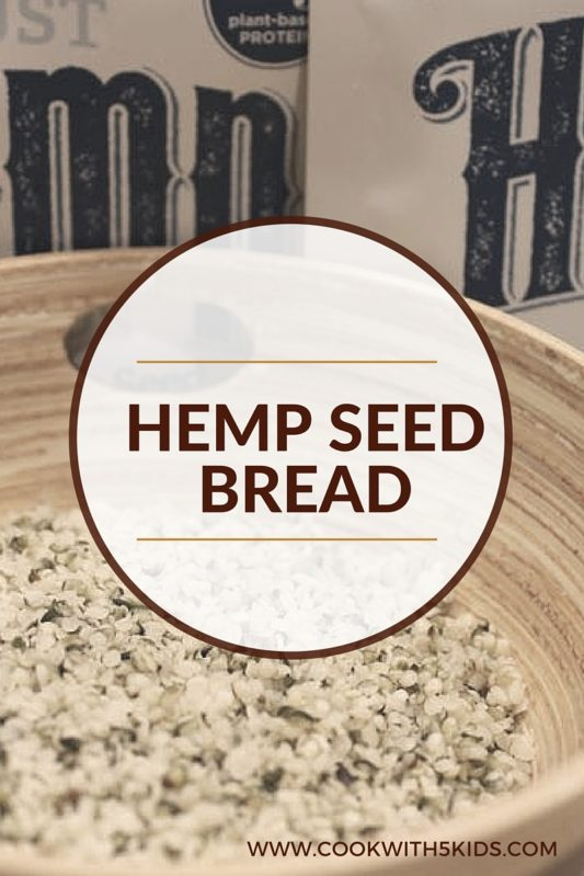 Hemp Seed Bread, full recipe at https://cookwith5kids.com/2011/03/hemp-seed-bread/