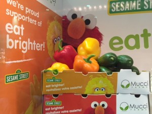 Eat Brighter campaign with sesame street characters