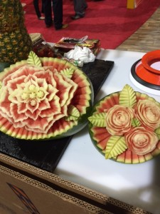 watermelon carving at PMA Fresh Summit