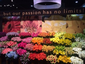 Flower display at Fresh Summit PMA