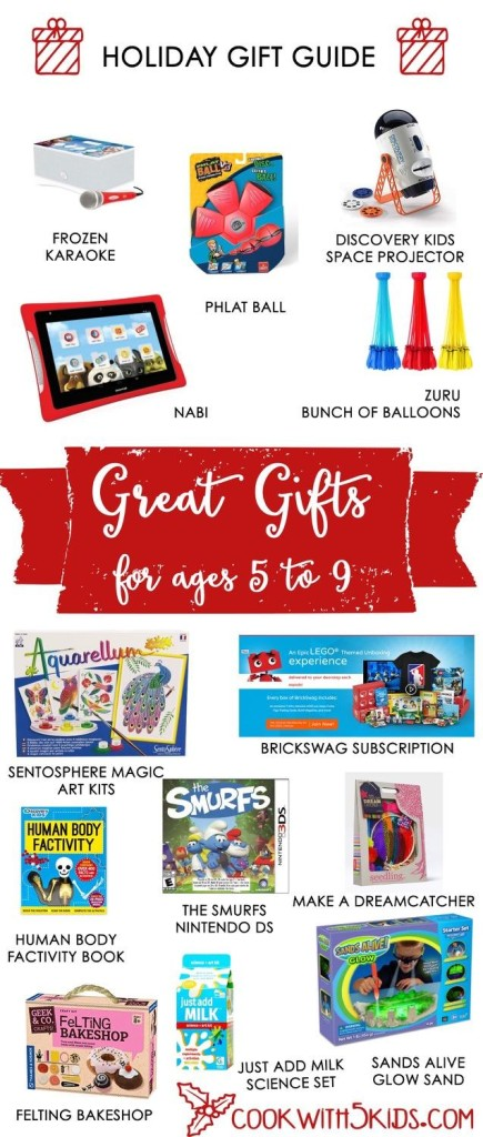 2015 Gift Guide for Elementary School 5-9 year olds