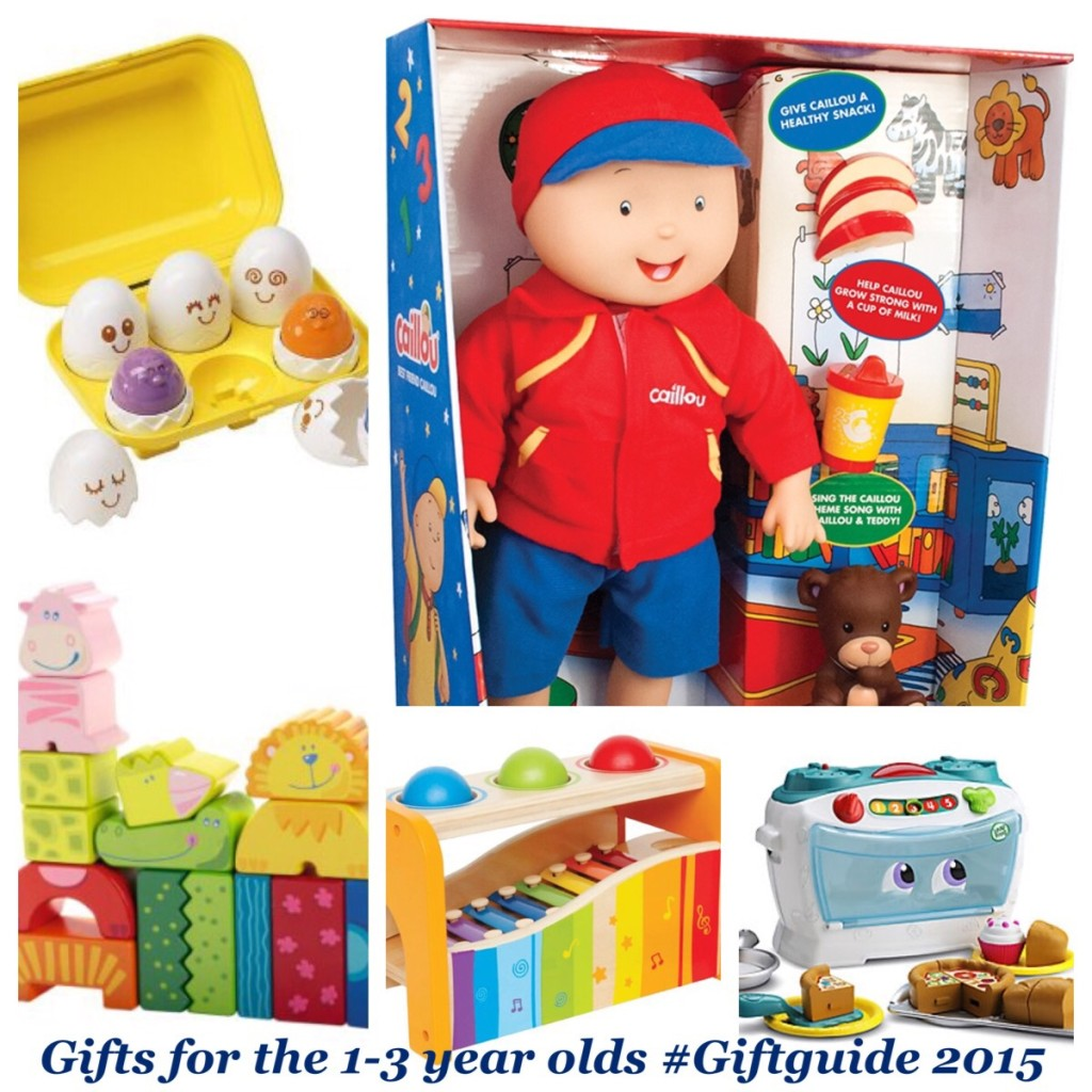 Gifts for the toddlers, 1-3 year old #Giftguide 2015
