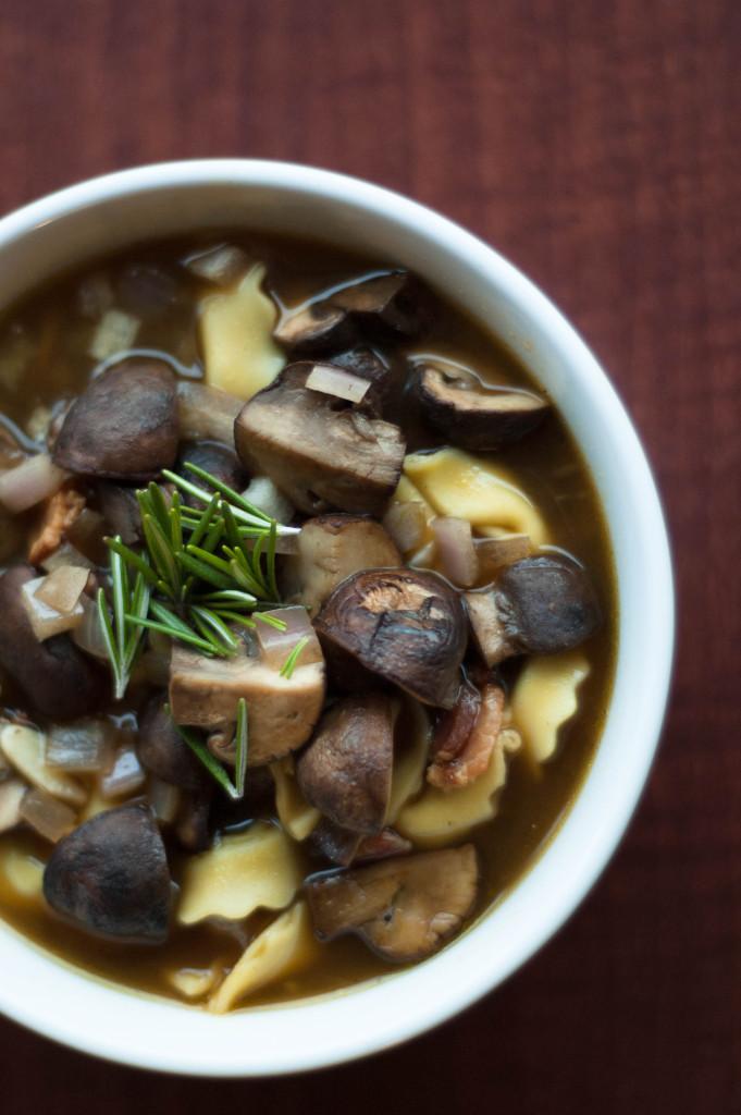 bacon and mushroom soup 1
