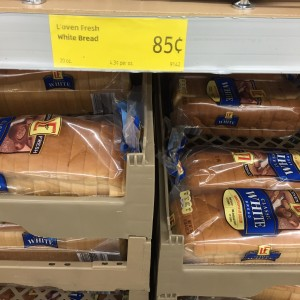 a loaf of bread is less than $1 at Aldi!