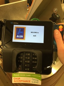 you can now pay with CREDIT CARDS at Aldi