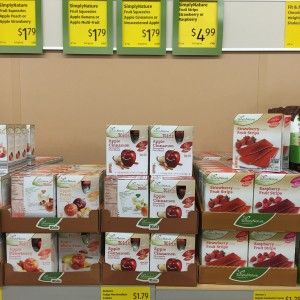 lots of organic and healthy items to choose from at Aldi