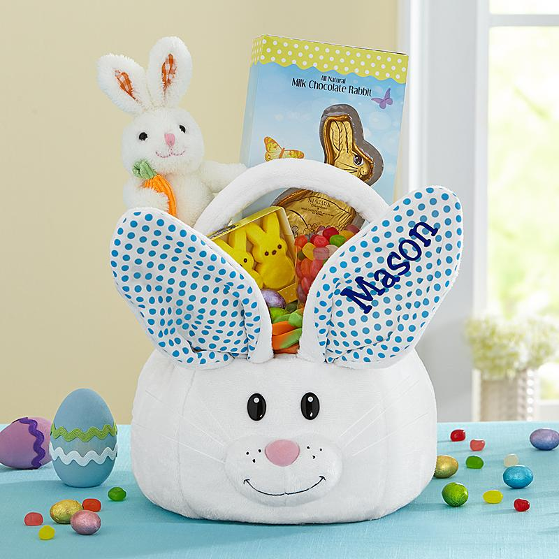 adorable bunny easter basket from personal creations