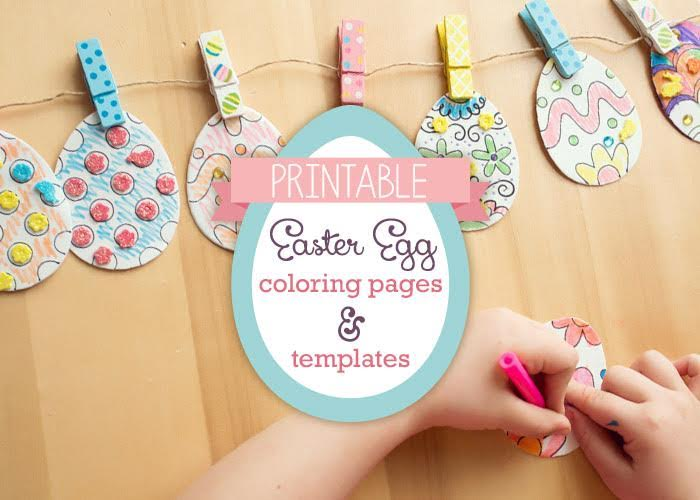 Easter egg coloring pages and printables