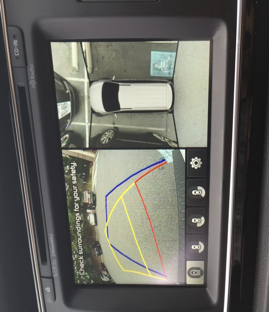 Kia rear view camera
