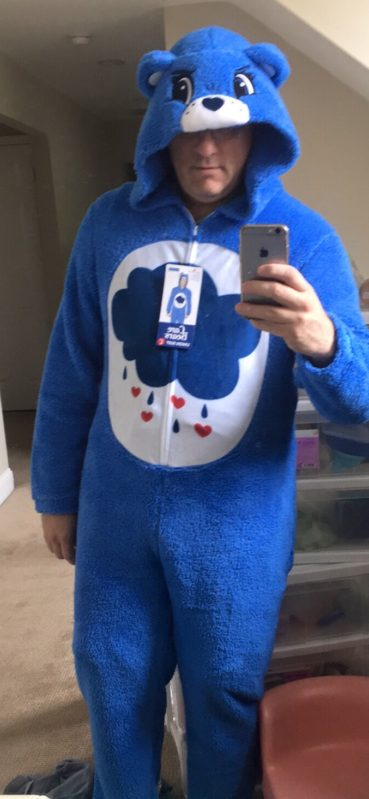 care bears adult onesie, union suit, found at Target #BBNYC #AcornBBNYC #ad