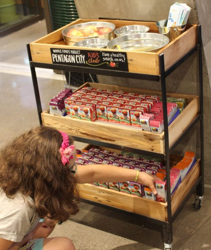 kids get a free treat after checking out at Whole Foods Pentagon City