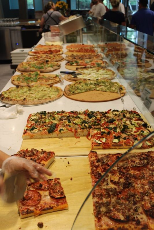 pizzas for sale at the new Whole Foods at Pentagon City