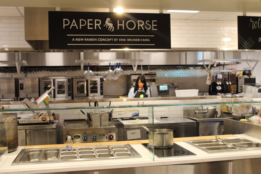 paper horse ramen bar at the new whole foods in Pentagon City