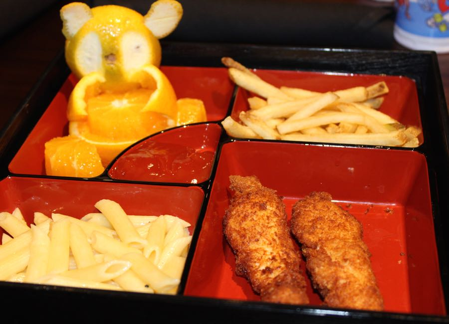 Bento Box Kid's meal at Kona Grill. Full review at www.cookwith5kids.com