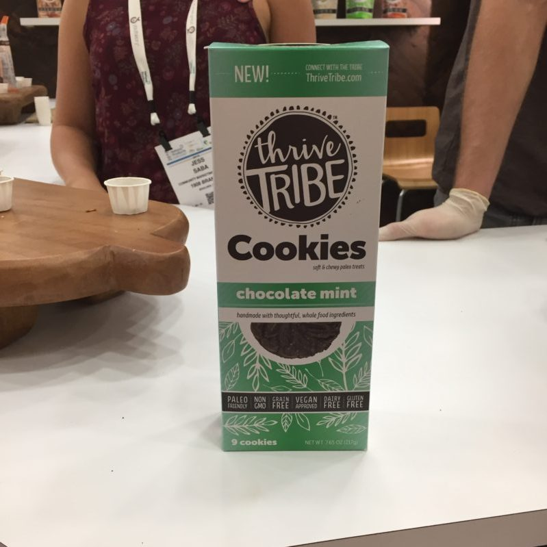 Thrive Tribe Mint Chocolate Vegan Gluten free cookies, from #ExpoEast ExpoBlogger Full story at www.cookwith5kids.com